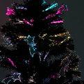 Елка светодиодная черная 60 см оптоволокно + 8 комет купить оптом и в розницу