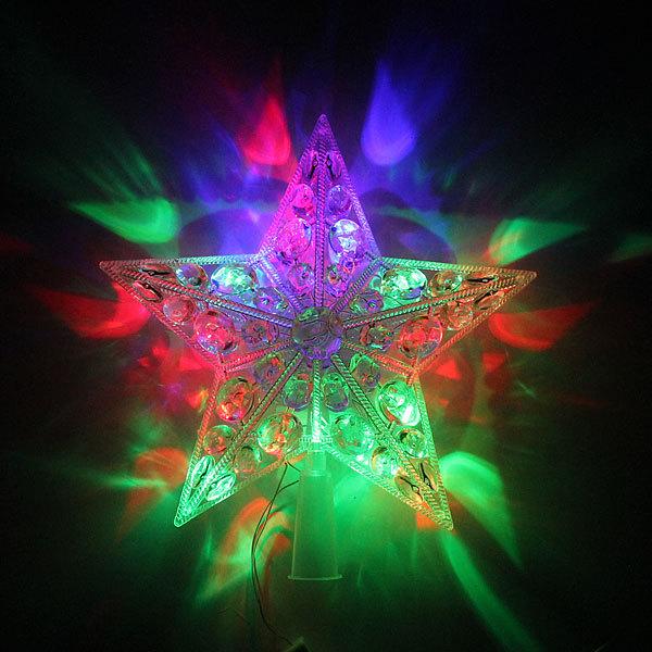Звезда для елки светодиодная, Фантазия 20 ламп LED, 20,5см, мультицвет купить оптом и в розницу