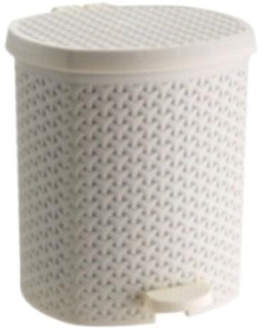Контейнер педальный для мусора плетенный  кремовый 21 л  *4 купить оптом и в розницу