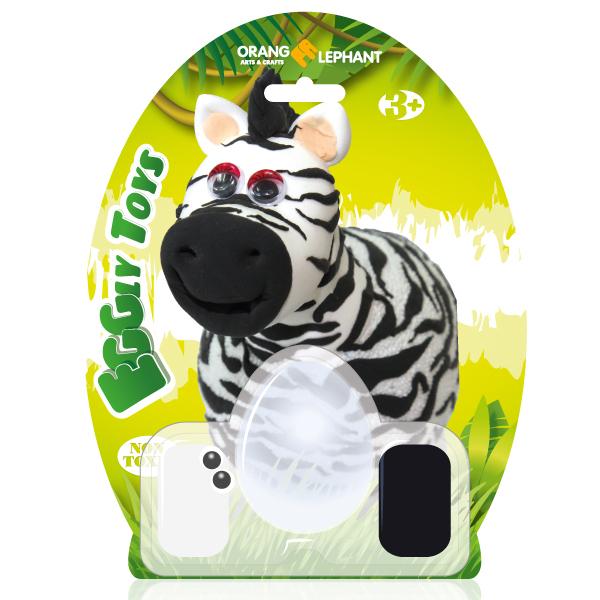 Набор ДТ Шариковый пластилин Зебра застывающий 24087/OE-CBC/Zebra купить оптом и в розницу