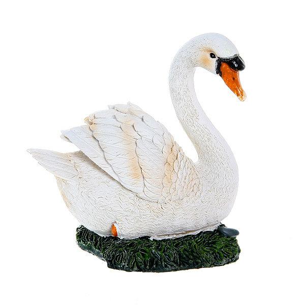 Садовая фигура ″Лебедь″, полистоун, 14 см купить оптом и в розницу