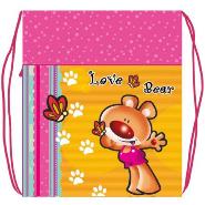 Сумка д/обуви Love bear 3 1отд.с карманом и сеточкой купить оптом и в розницу