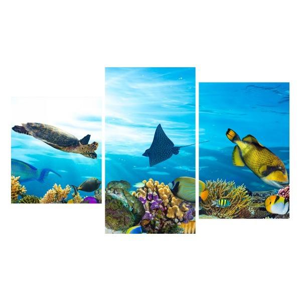 Картина модульная триптих 55*96 Море диз.1 24-01 купить оптом и в розницу