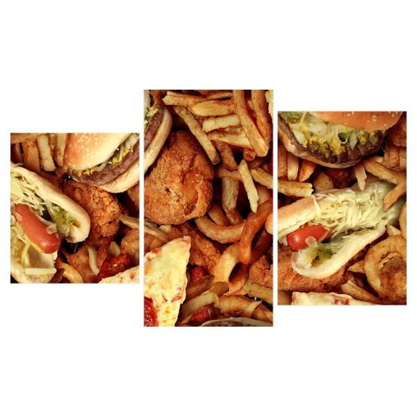 Картина модульная триптих 55*96 Бургеры 26-01 купить оптом и в розницу