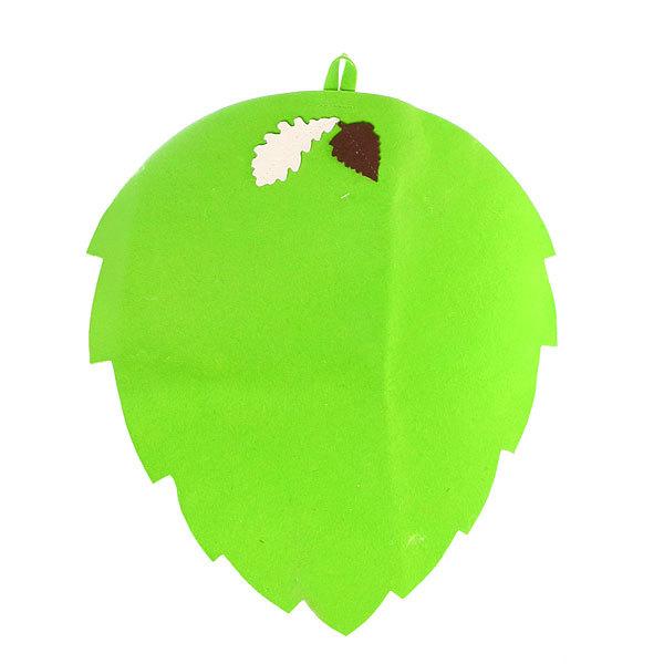 Коврик ″Банный лист″, фетр зеленый Б4716 купить оптом и в розницу
