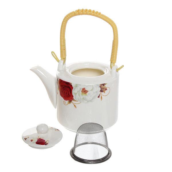 Чайник заварочный керамический 500 мл ″Цветы″ №5 купить оптом и в розницу