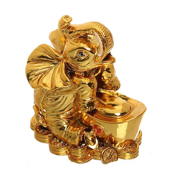 Оберег фэн-шуй ″Слон″ (золото) купить оптом и в розницу