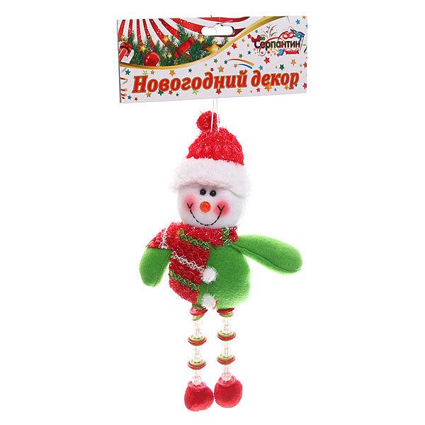 Ёлочная игрушка мягкая 20см ″Снеговичок с ножками″ купить оптом и в розницу