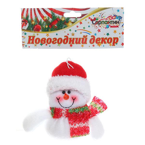 Ёлочная игрушка мягкая 11,5см ″Снеговичок″ купить оптом и в розницу