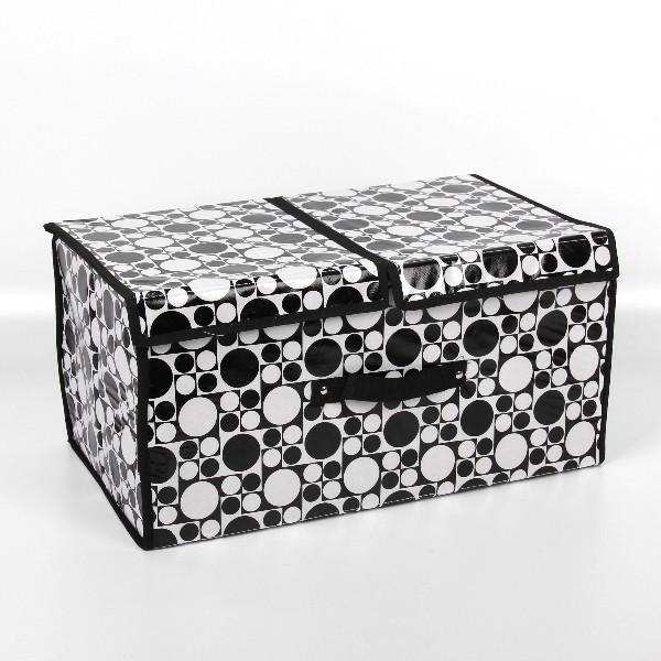 Коробка д/хранения вещей 50*30*25 ″Круги″ купить оптом и в розницу