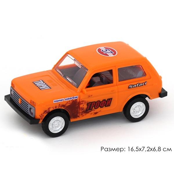 Машина инерц. 10704АПР Джип Трофи в пак. купить оптом и в розницу