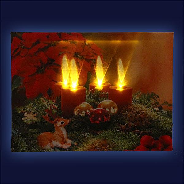 Картина световая 30*40см ″Рождество″ К-147 купить оптом и в розницу