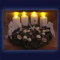 Картина световая 30*40см ″Рождественский венок″ К-170 купить оптом и в розницу