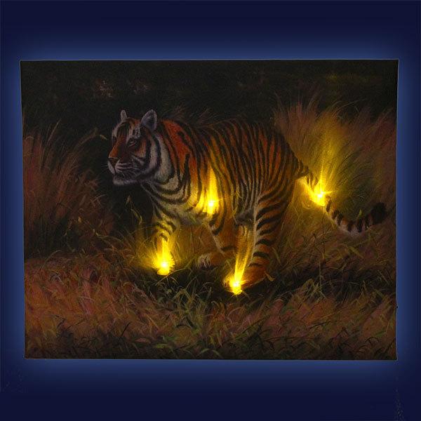 Картина световая 40*50см ″Тигр″ НН-8014 купить оптом и в розницу