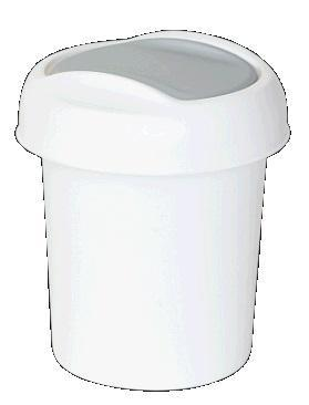 """Контейнер для мусора """"Ориджинал"""" 1 л белый  * 30 купить оптом и в розницу"""