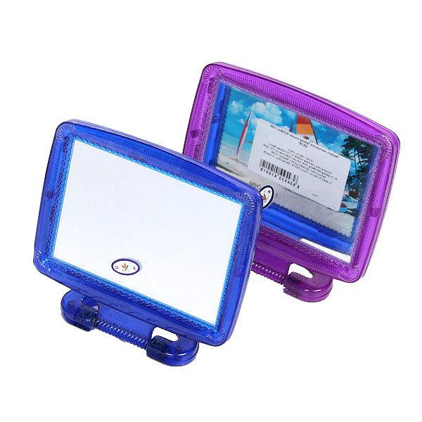 Зеркало настольное в пластиковой оправе ″Простое″ прямоугольник, подвесное 10,5*8см купить оптом и в розницу