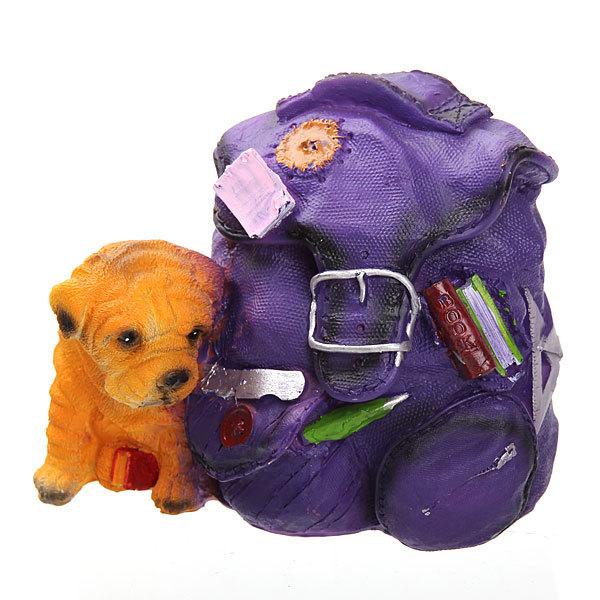 Копилка из полистоуна ″ПесикФомка с рюкзаком″ 13,5*18см купить оптом и в розницу