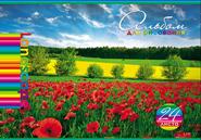 """Альбом д/рис.А4 24л, HATBER, """"Яркие краски природы"""" тиснение купить оптом и в розницу"""