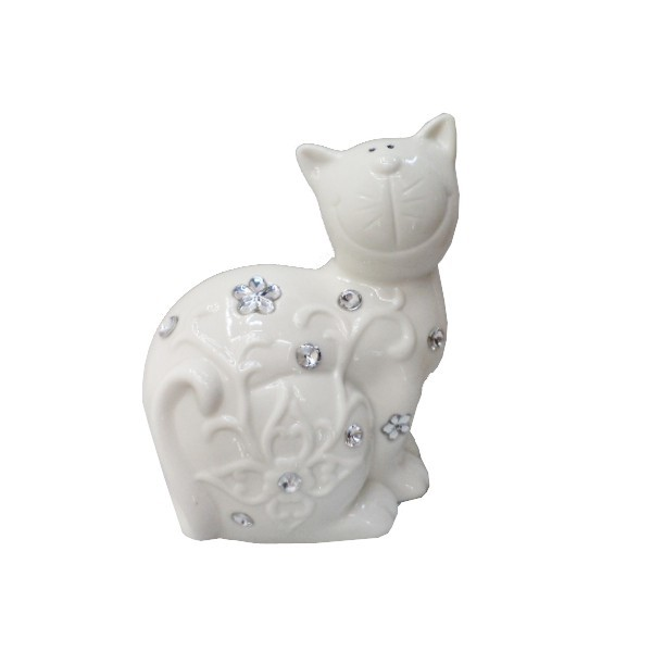 Статуэтка керамическая ″Котик цветочек″, 14*12см купить оптом и в розницу
