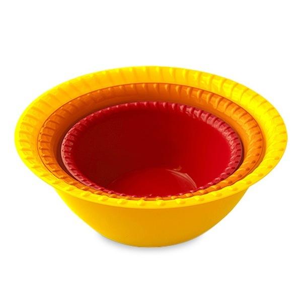 Миска-салатница пластиковая в наборе 3 шт. (0,8л; 1,5л; 2,5л) купить оптом и в розницу