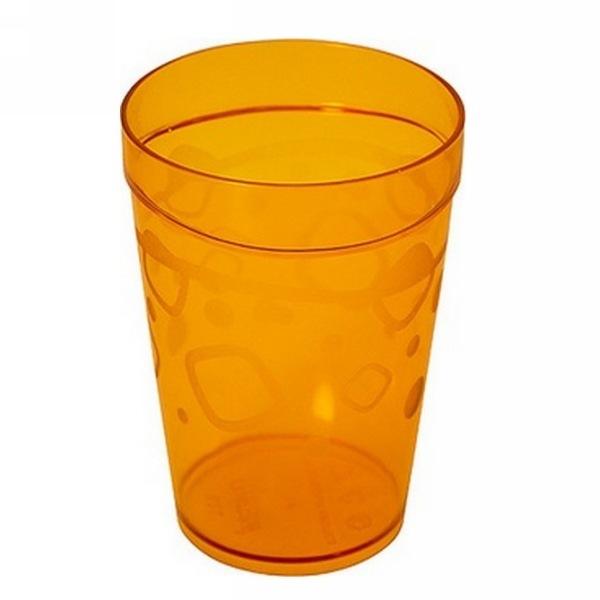 Стакан пластиковый 300мл ″Люмици″ (Коричневый прозрачный) купить оптом и в розницу