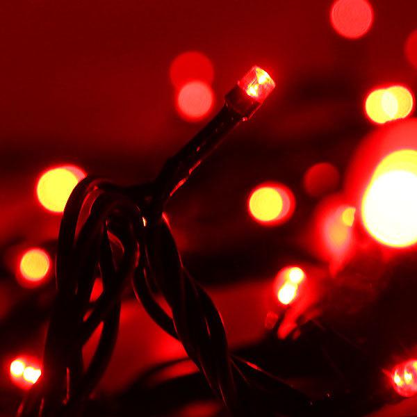 Гирлянда светодиодная уличная 25 м, 400 ламп LED, Красный, 8 реж, черн.пров., с соед. купить оптом и в розницу
