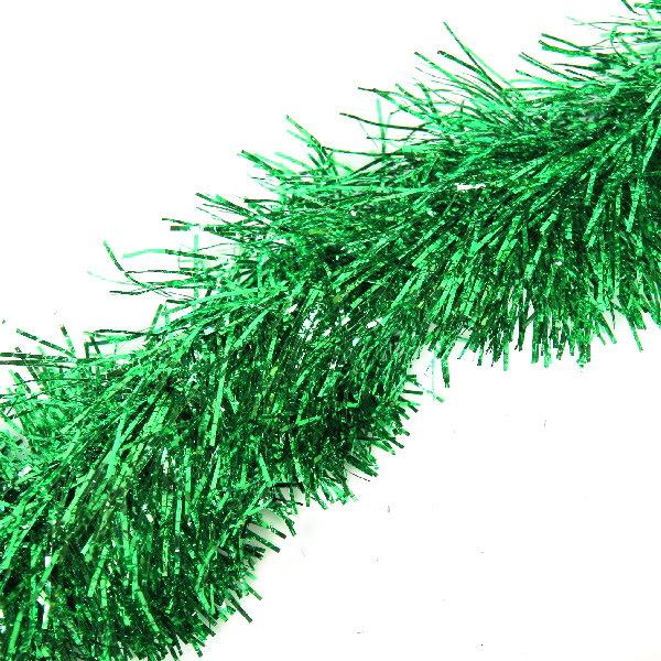 Мишура новогодняя 2 метра 11см ″Ель пушистая″ зеленый купить оптом и в розницу