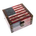 Набор сундучков из 2-х шт ″Флаг″ 11,5*17*18см, 7,5*14*13см.WJ023 купить оптом и в розницу