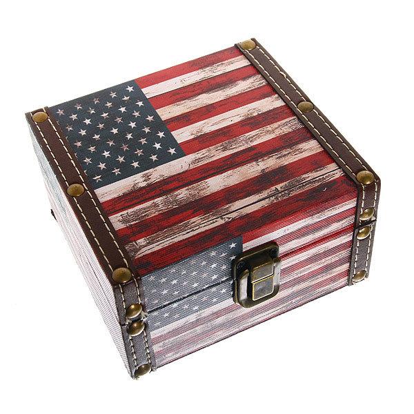 Набор сундучков из 2-х шт ″Флаг″ 11,5*17*18см, 7,5*14*13 см купить оптом и в розницу