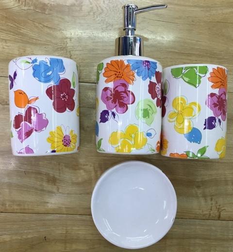 Набор для ванной из 4-х предметов керамический 11225-8 купить оптом и в розницу