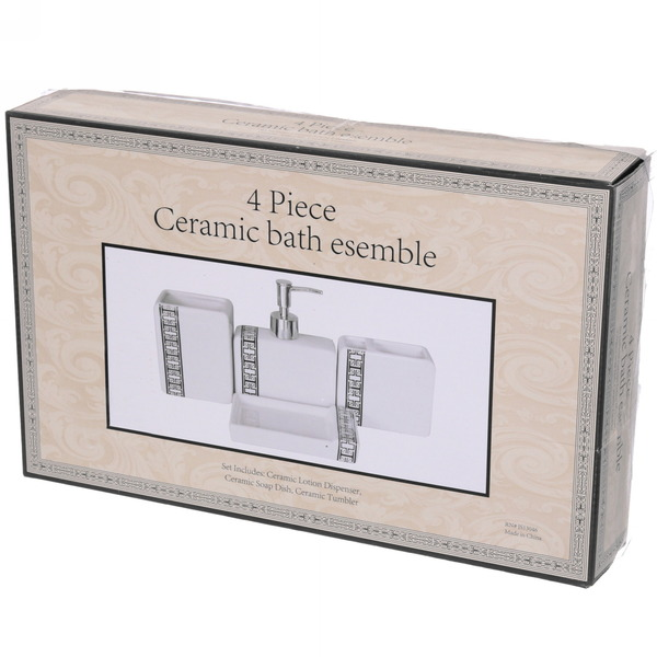 Набор для ванной из 4-х предметов керамический 13046A купить оптом и в розницу