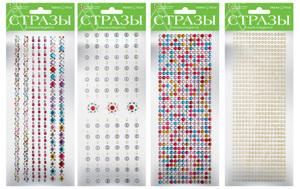 """Наклейки декоративные """"Стразы.Кристаллы-1"""" 4 вида купить оптом и в розницу"""