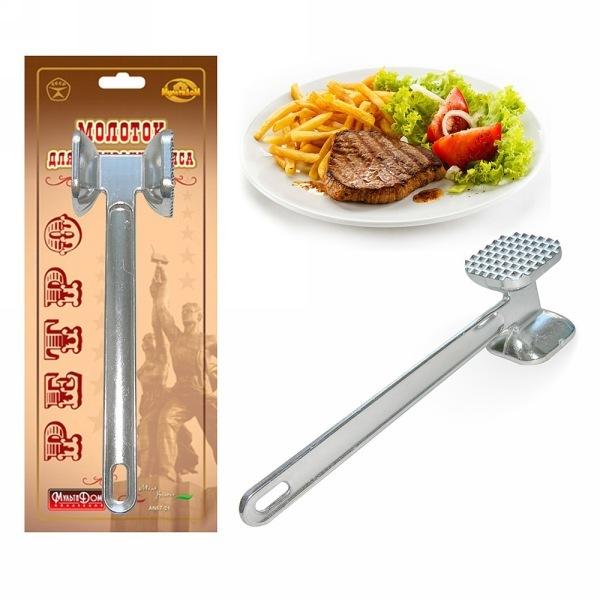 Молоток для отбивания мяса металлический ″Ретро″, AN57-21 купить оптом и в розницу