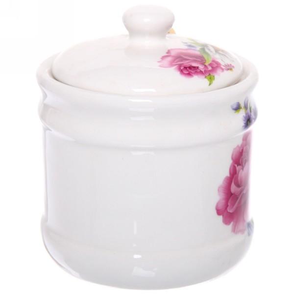 Сахарница керамическая 500мл ″Бархатные цветы″ купить оптом и в розницу