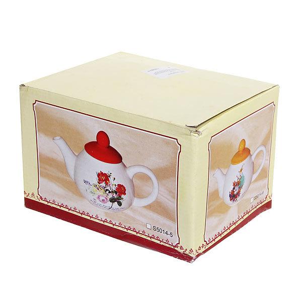 Чайник заварочный керамический 1000 мл ″Ромашки″ купить оптом и в розницу