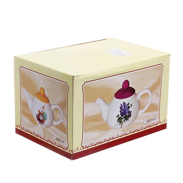 Чайник заварочный керамический 1000 мл ″Сирень″ купить оптом и в розницу