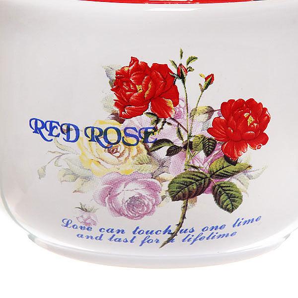 Сахарница керамическая 500 мл ″Розы″ купить оптом и в розницу