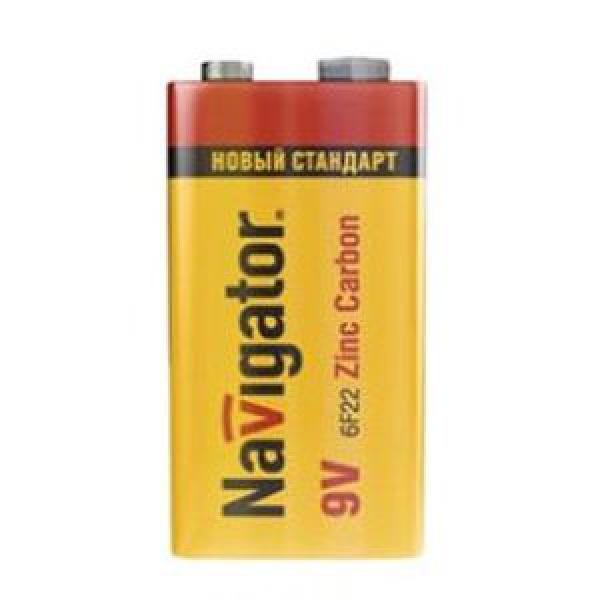 Элемент питания Navigator NBT-NS-6F22-SH1 упак. в пленке 1шт, 9В, Zinc Carbon (12/60) купить оптом и в розницу