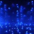 Занавес светодиодный ш 2 * в 3м, 480 ламп LED, Синий, 8 реж, прозр.пров. купить оптом и в розницу