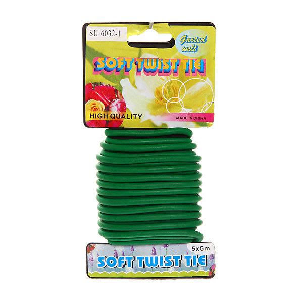Подвязка для растений 5м*5мм, зеленая купить оптом и в розницу