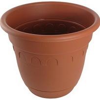Горшок для цветов Колывань 6.7л д26см терракотовый с поддоном С95Т купить оптом и в розницу