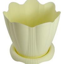 Горшок для цветов Эдельвейс с поддоном 5,3л Д24см колор С193К купить оптом и в розницу