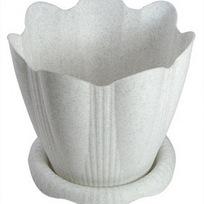 Горшок для цветов Эдельвейс с поддоном 5,3л Д24см мрамор С193М купить оптом и в розницу