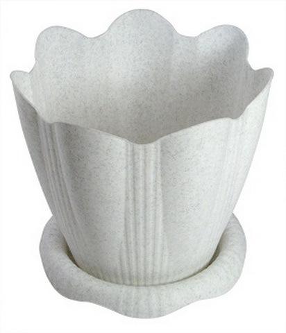 Горшок для цветов Эдельвейс с поддоном 9,5л Д29см мрамор С194М купить оптом и в розницу