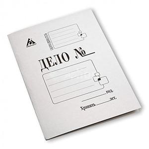 Папка карт.скоросш. 320г/м белая купить оптом и в розницу