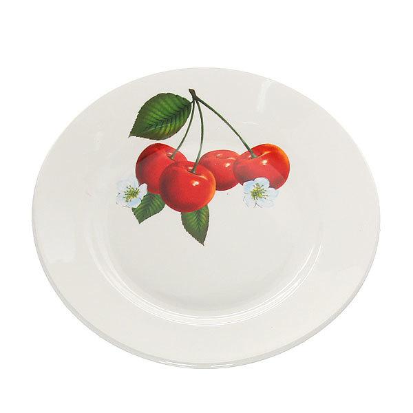 Тарелка керамическая 17,5 см мелкая Вишенка СК_057 Д купить оптом и в розницу
