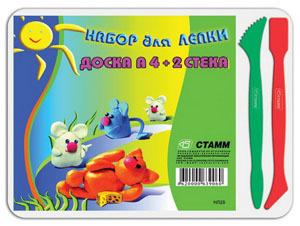 Доска для пластилина А5 + 2 стека купить оптом и в розницу