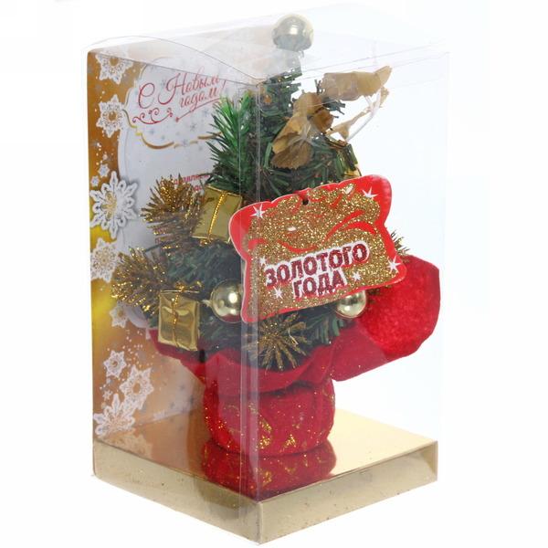 Ёлка 20 см украшенная с подвеской ″Золотого года″ купить оптом и в розницу