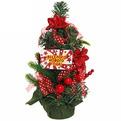 Ёлка 30 см украшенная с подвеской ″Веселого Нового года″ купить оптом и в розницу