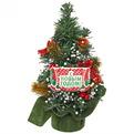 Ёлка 30 см украшенная с подвеской ″С Новым годом″ купить оптом и в розницу